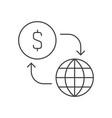 money flow icon vector image vector image