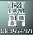 next level numbers vintage t-shirt stamp vector image