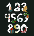 numbers with symbols of the christmas new year vector image