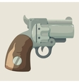 Old steel cowboy revolver isolated on light vector image vector image