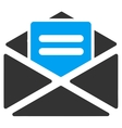 Open mail icon from Business Bicolor Set vector image vector image