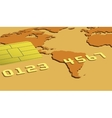 Part of gold credit card vector image