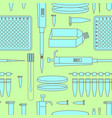 pcr lab equipment seamless pattern vector image
