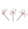 pink magic wand vector image