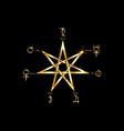 planetary ritual gold heptagram
