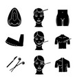 plastic surgery glyph icons set vector image vector image