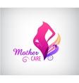 pregnancy logo pregnant woman silhouette vector image vector image