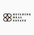 real estate initial letter b b logo design