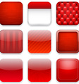 Red app icons vector image vector image