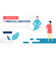 remote medical services - colorful flat design vector image