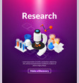 research poster of isometric color design vector image vector image
