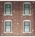 Retro Building Facade At Winter Time vector image