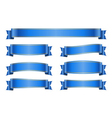 Ribbon blue banners set 1a vector image vector image