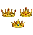 Royal crowns set vector image vector image