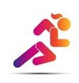 Running woman simple symbol of run isolated on a vector image vector image