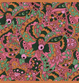 seamless doodle pattern floral doodle wavy vector image