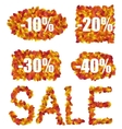 Set Autumn Sale Discounts made in Colorful Leaves