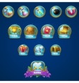 set different buttons boosters vector image vector image