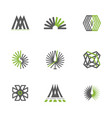 set of abstract design logos for company vector image vector image