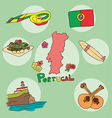 set of national profile of the portugal vector image vector image