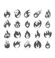 set various fire elements vector image