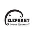 simple outline elephant sign or emblem vector image