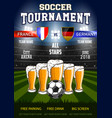 soccer with beer vector image vector image