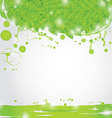 Summer branch with Fresh green leaves on natural vector image vector image