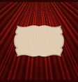 the frame on a textile red background vector image vector image