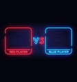 versus neon sign neon symbol icon logo design vector image vector image