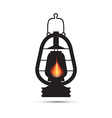 vintage lantern gas lamp isolated on white vector image vector image