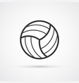 volleyball black line smart icon eps10 vector image