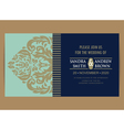 wedding invitation and save date card vector image vector image