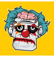 zombie head - sad clown zombie vector image vector image