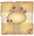 Vintage roses lace background vector image