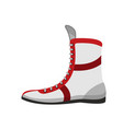 boxing shoes retro footwear for boxer training vector image