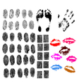 50 BodyParts vector image vector image