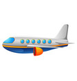 a commercial plane on a white back vector image vector image