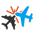 Airplane Collision Icon vector image vector image