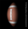 American football on black vector image vector image