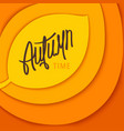 autumn time stylized background vector image