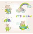 baby cat set - shower or arrival card