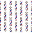 Barber pole Seamless watercolor pattern with vector image vector image