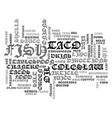best recipes baja fish tacos text word cloud vector image vector image