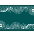 Border with abstract flowers vector image vector image