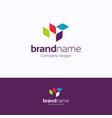 brand name logo vector image vector image