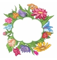 bright flower frame vector image vector image