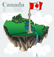 Canada country infographic map in 3d vector image