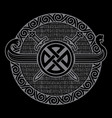 celtic scandinavian design old norse runic vector image vector image
