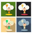 child playing with balloons isolated on vector image vector image